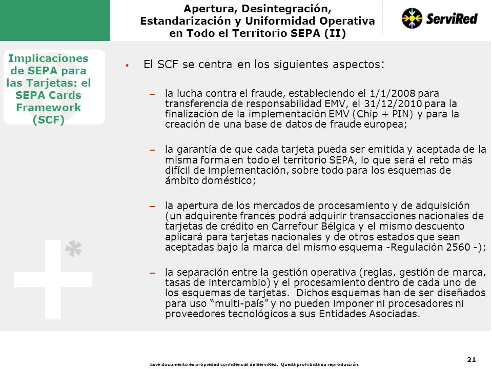 Implicaciones de SEPA para las Tarjetas: el SEPA Cards Framework (SCF)