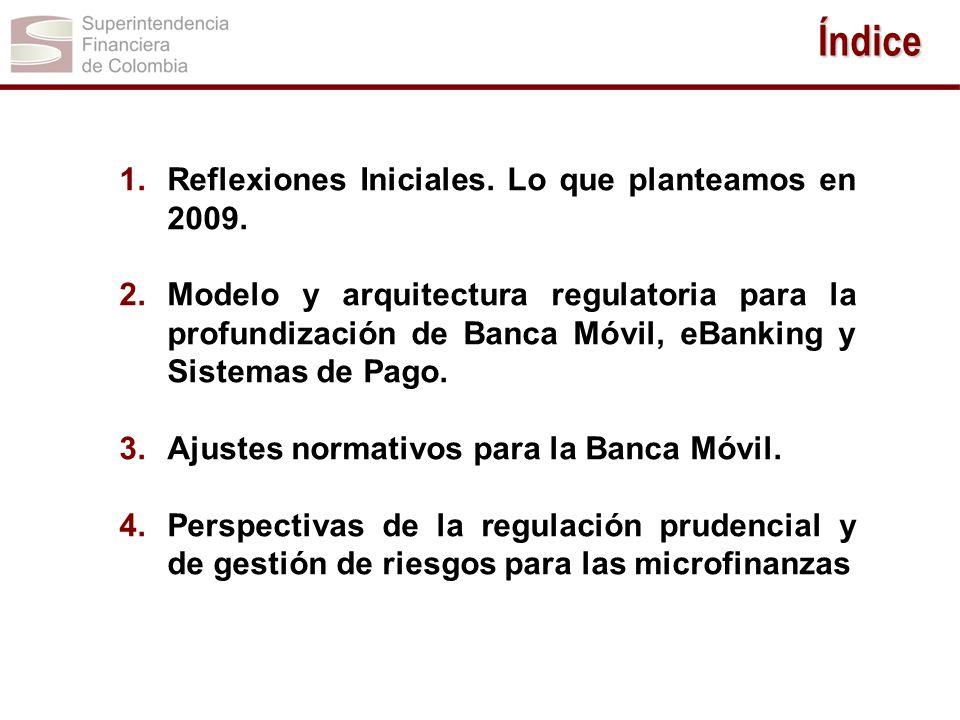 Índice Reflexiones Iniciales. Lo que planteamos en 2009.