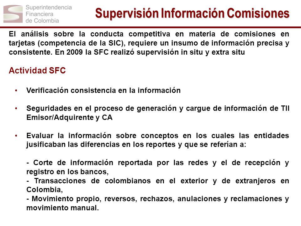Supervisión Información Comisiones