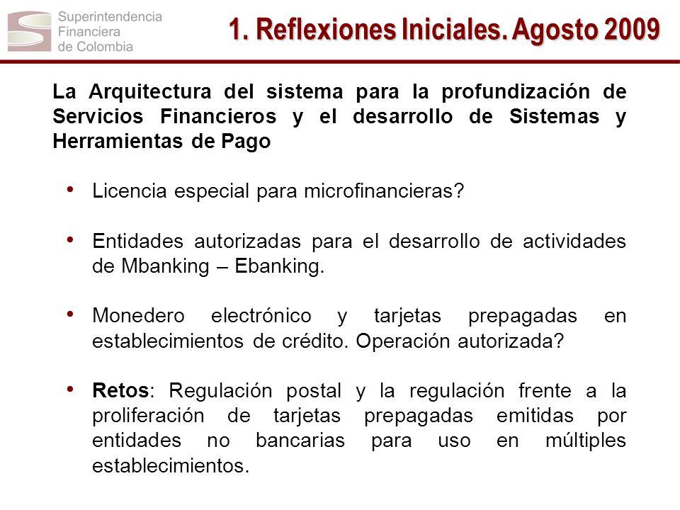 1. Reflexiones Iniciales. Agosto 2009