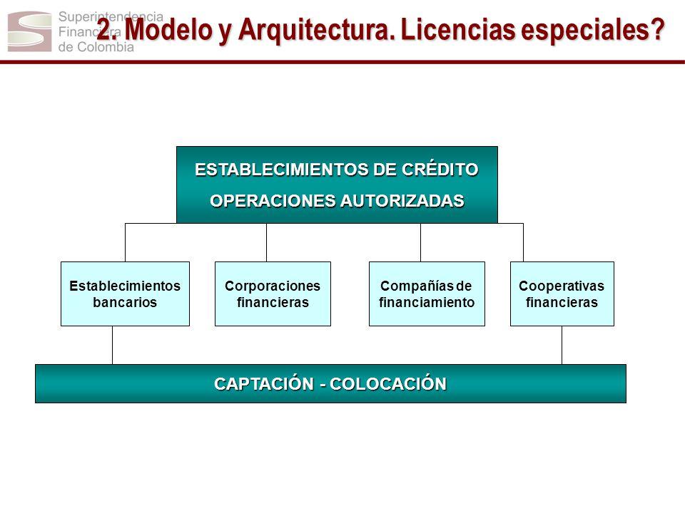 2. Modelo y Arquitectura. Licencias especiales