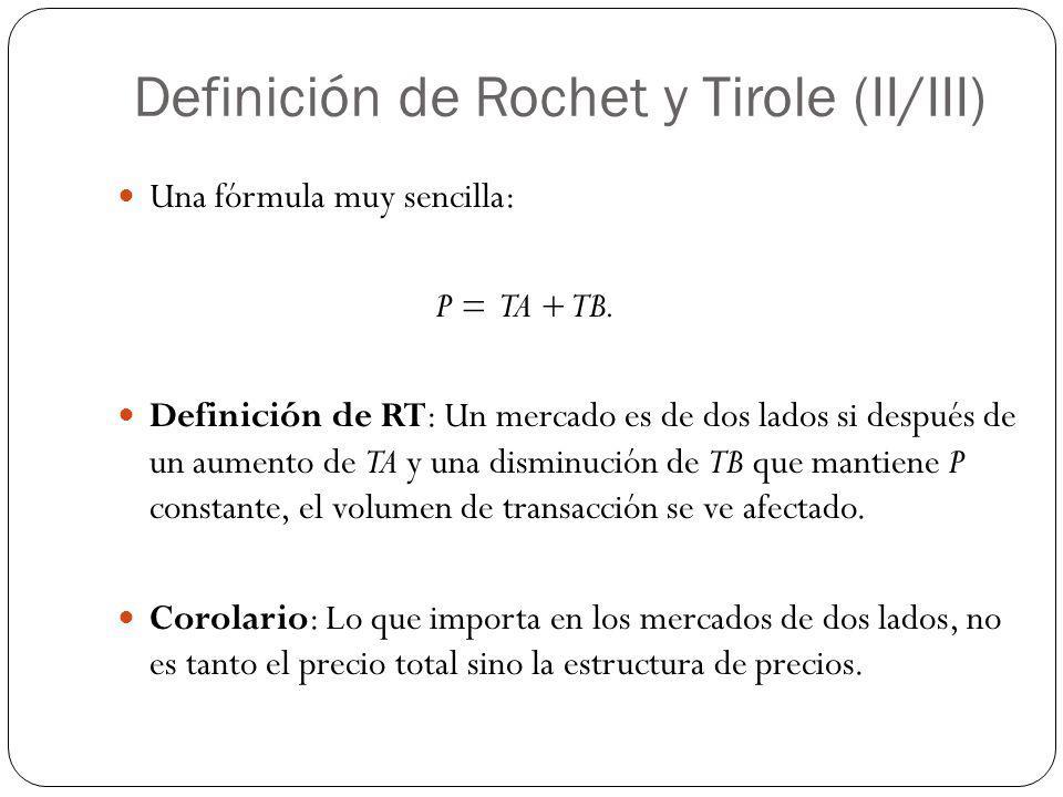 Definición de Rochet y Tirole (II/III)