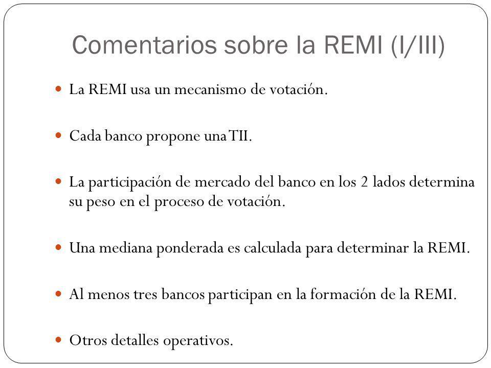 Comentarios sobre la REMI (I/III)