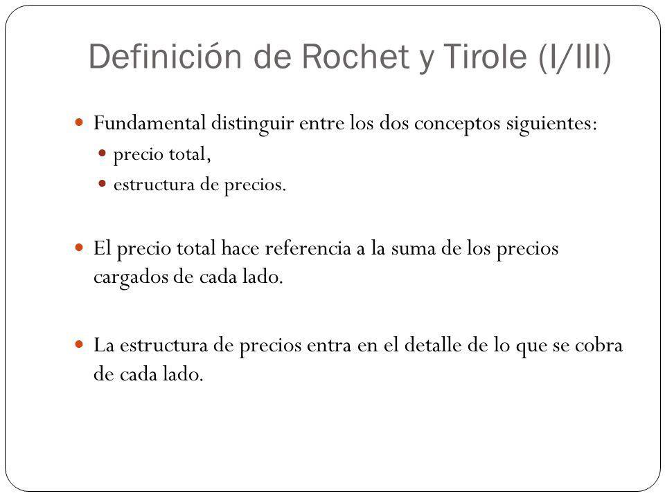 Definición de Rochet y Tirole (I/III)