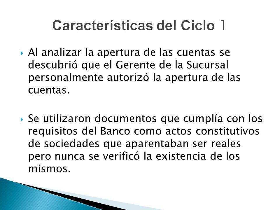 Características del Ciclo 1