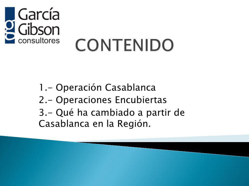 CONTENIDO 1.- Operación Casablanca 2.- Operaciones Encubiertas