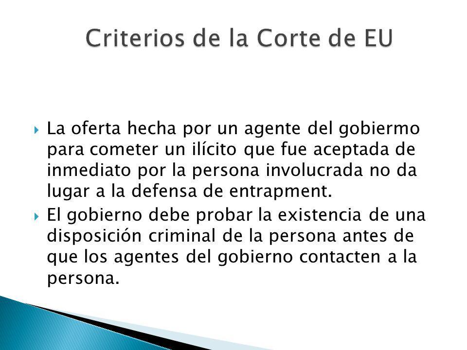 Criterios de la Corte de EU