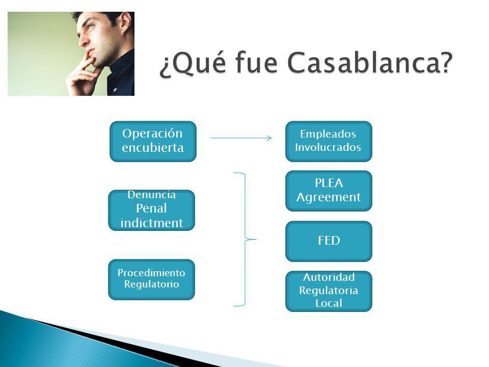 ¿Qué fue Casablanca Operación encubierta PLEA Agreement