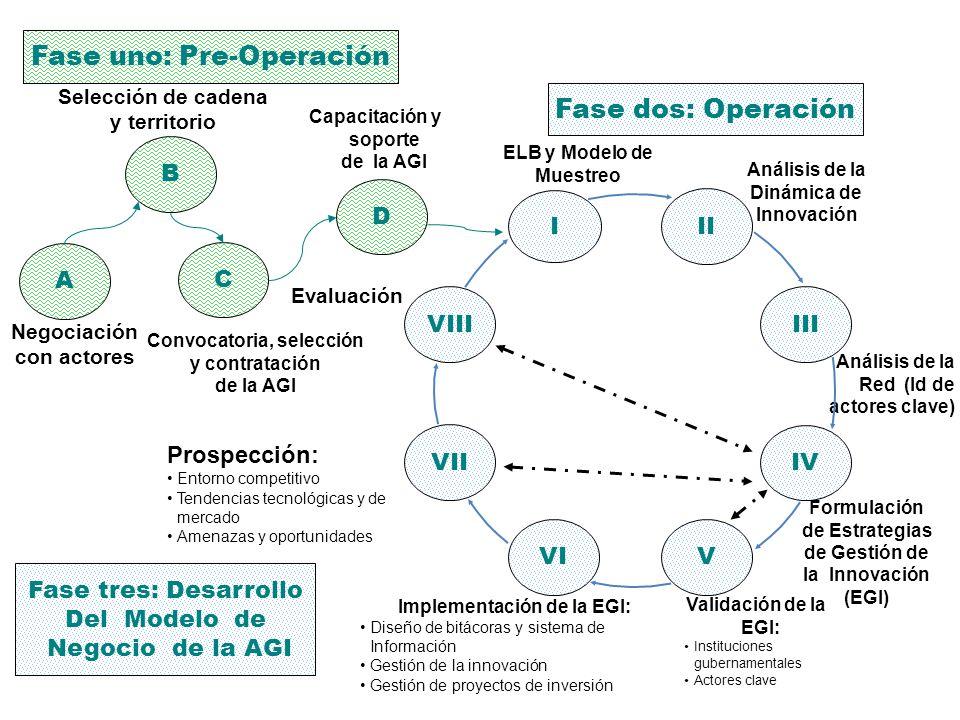 Fase uno: Pre-Operación