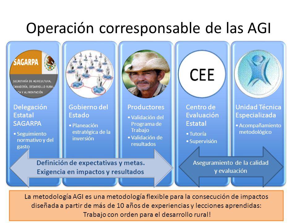 Operación corresponsable de las AGI