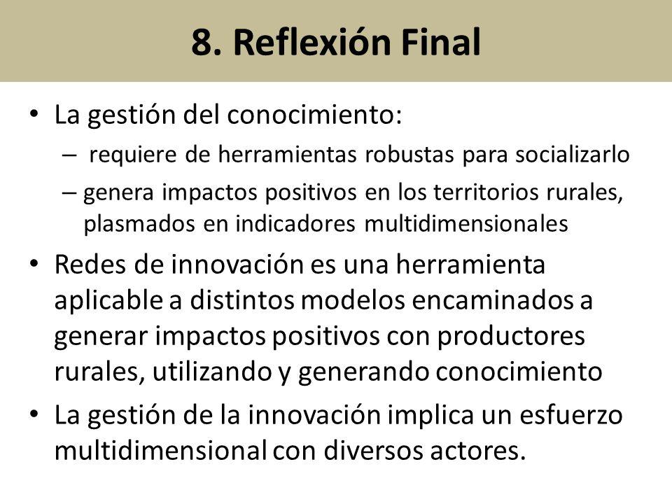 8. Reflexión Final La gestión del conocimiento: