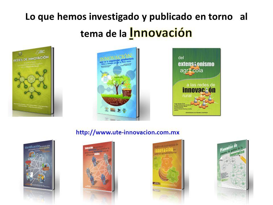 Lo que hemos investigado y publicado en torno al tema de la Innovación