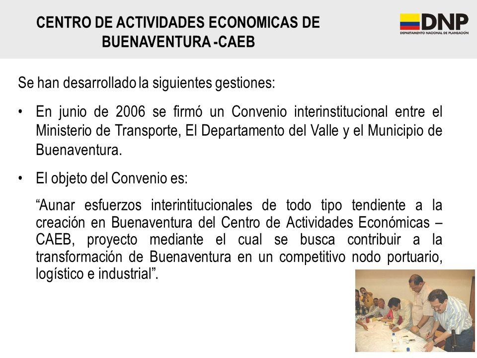 CENTRO DE ACTIVIDADES ECONOMICAS DE BUENAVENTURA -CAEB