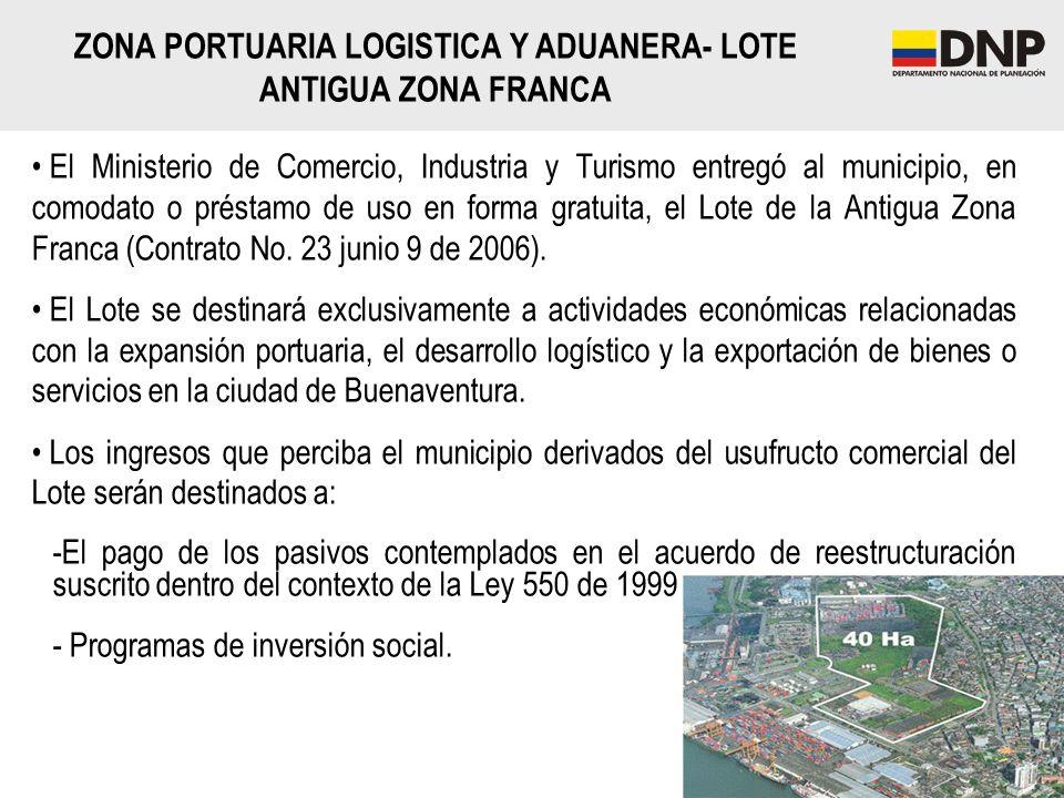 ZONA PORTUARIA LOGISTICA Y ADUANERA- LOTE ANTIGUA ZONA FRANCA