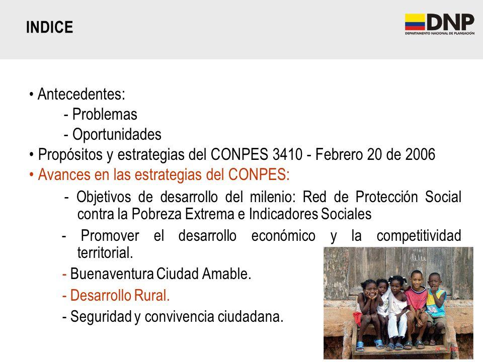 Propósitos y estrategias del CONPES 3410 - Febrero 20 de 2006