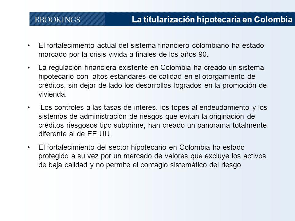 La titularización hipotecaria en Colombia