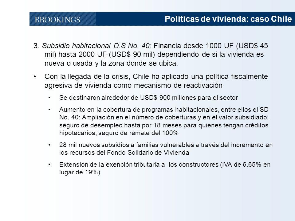 Políticas de vivienda: caso Chile