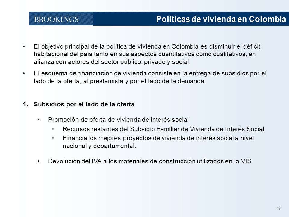Políticas de vivienda en Colombia