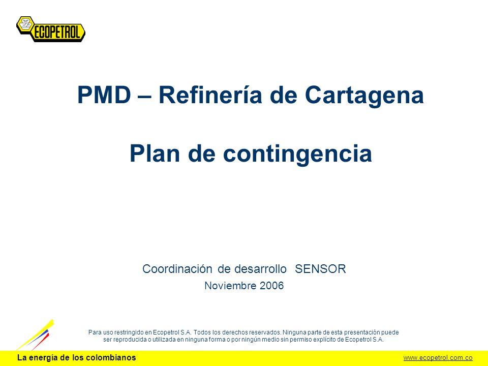 PMD – Refinería de Cartagena Plan de contingencia