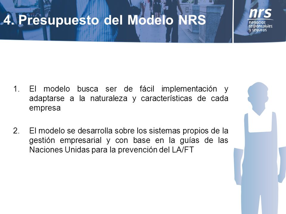 4. Presupuesto del Modelo NRS