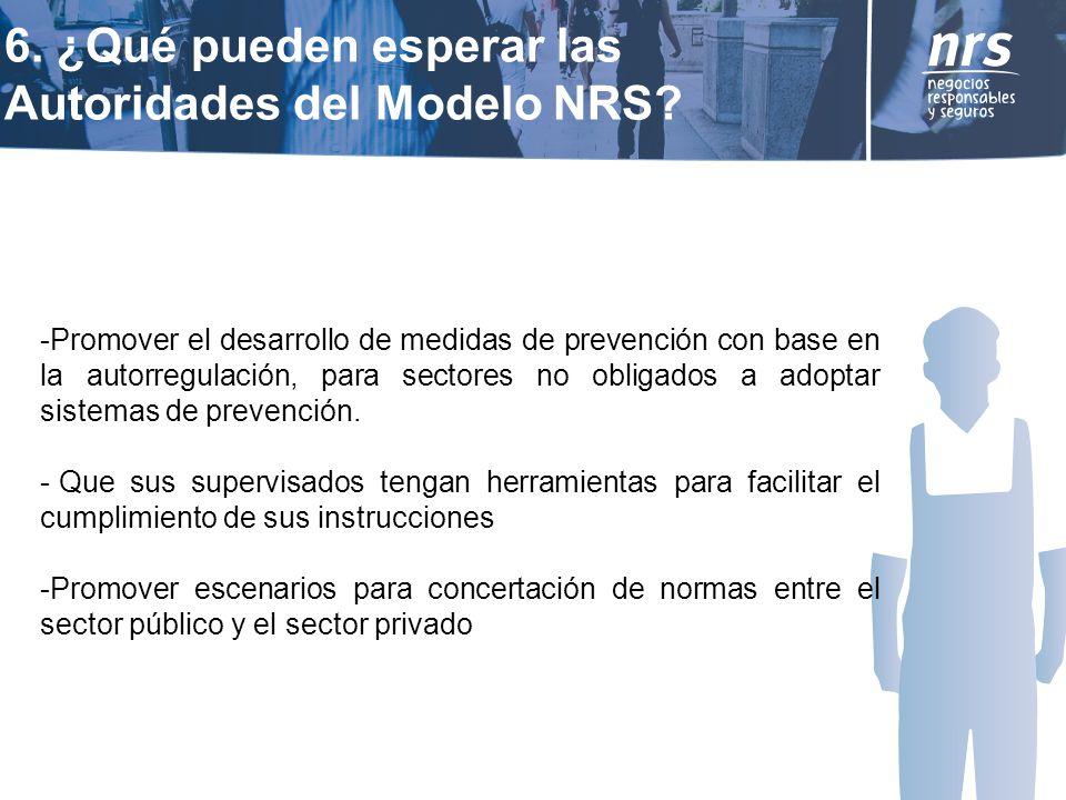 6. ¿Qué pueden esperar las Autoridades del Modelo NRS