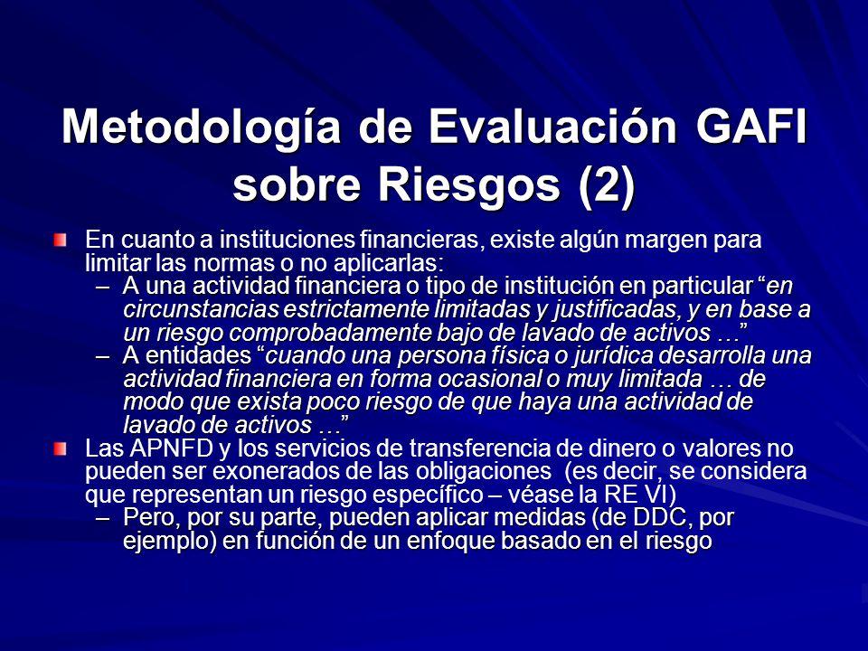Metodología de Evaluación GAFI sobre Riesgos (2)