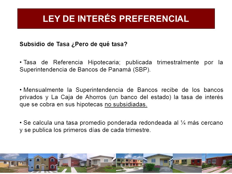 LEY DE INTERÉS PREFERENCIAL
