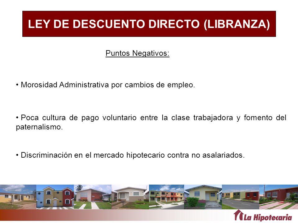 LEY DE DESCUENTO DIRECTO (LIBRANZA)