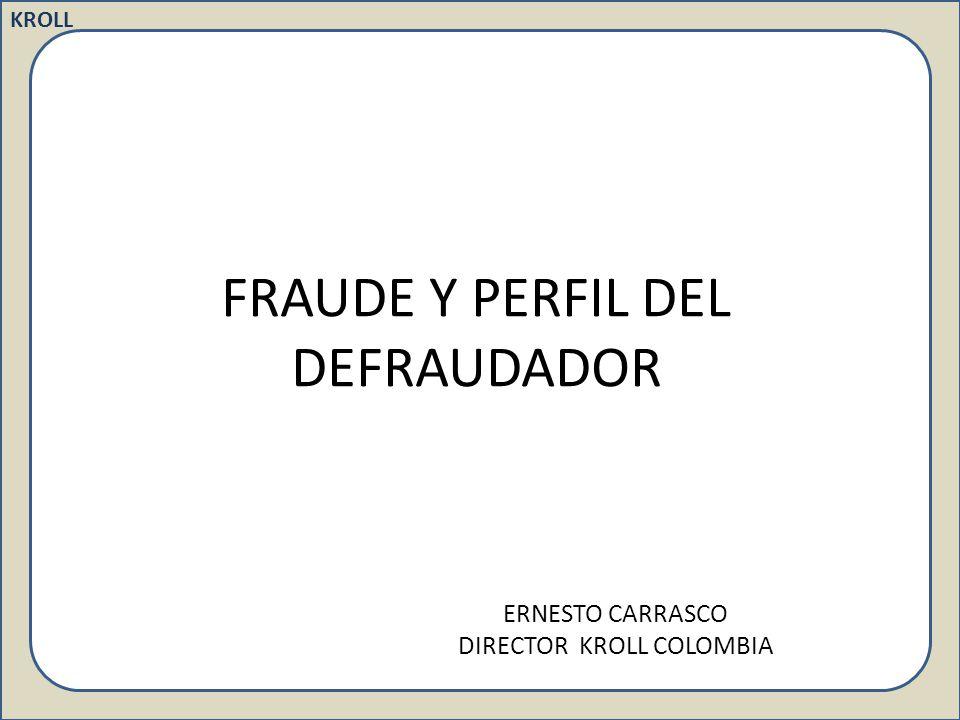FRAUDE Y PERFIL DEL DEFRAUDADOR