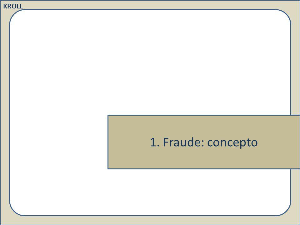 KROLL 1. Fraude: concepto