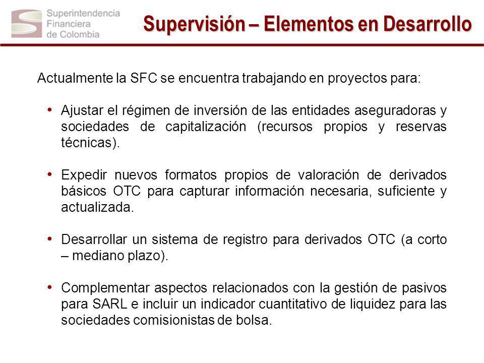 Supervisión – Elementos en Desarrollo
