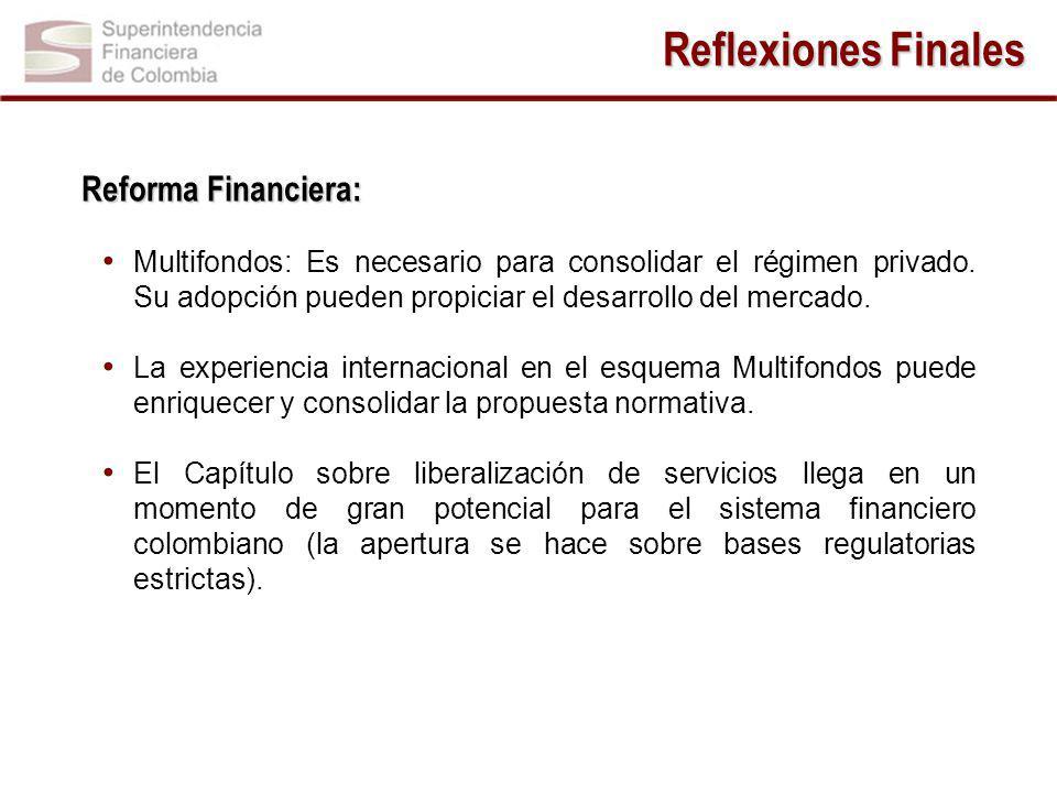 Reflexiones Finales Reforma Financiera: