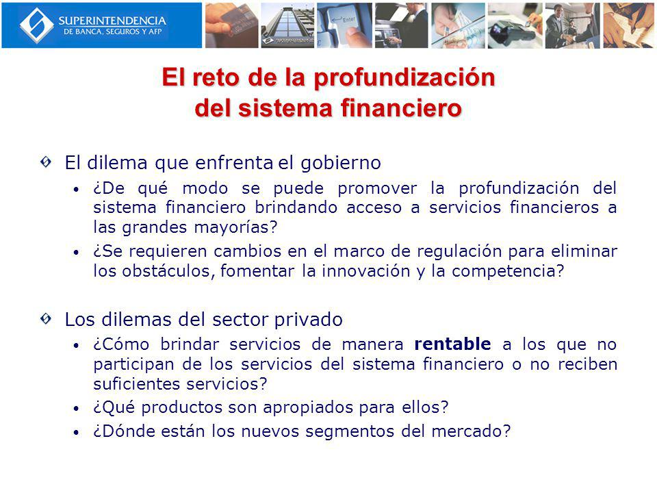 El reto de la profundización del sistema financiero