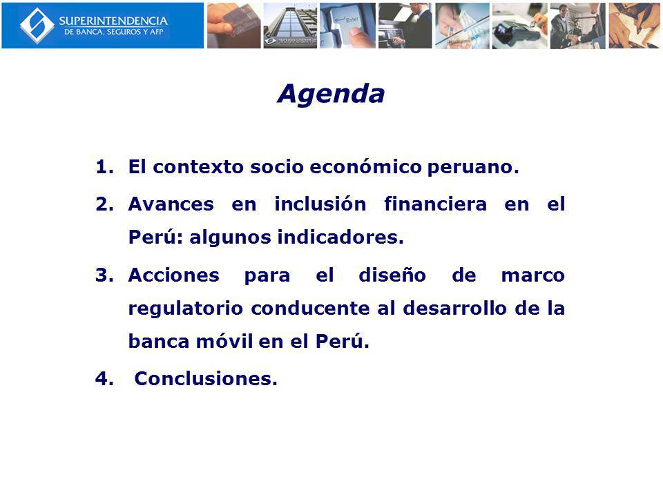 Agenda El contexto socio económico peruano.