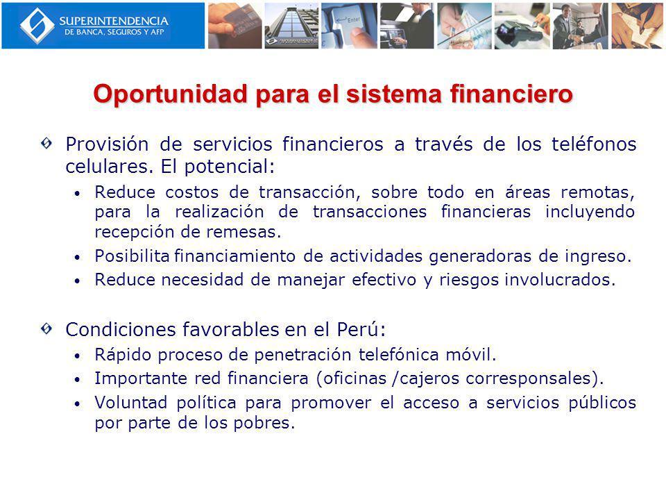 Oportunidad para el sistema financiero