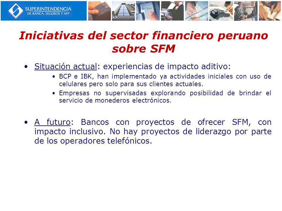Iniciativas del sector financiero peruano sobre SFM