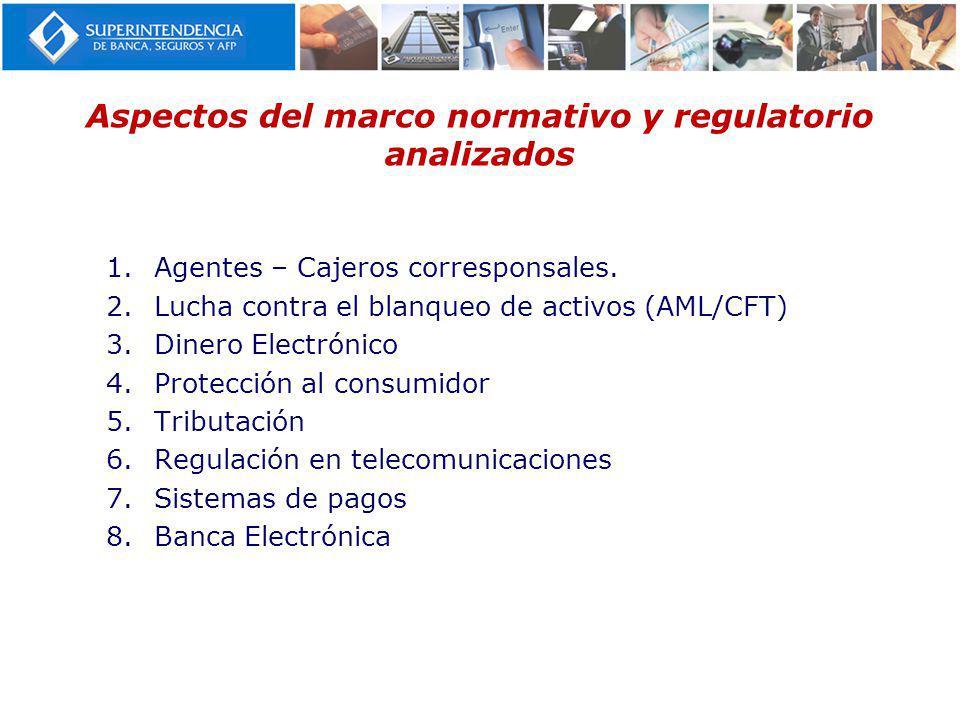 Aspectos del marco normativo y regulatorio analizados