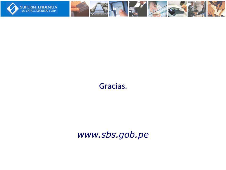 Gracias. www.sbs.gob.pe