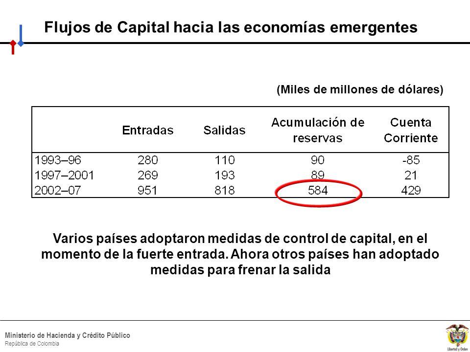 Flujos de Capital hacia las economías emergentes