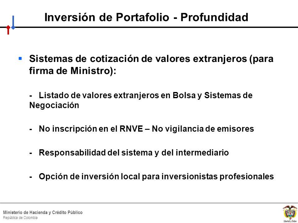 Inversión de Portafolio - Profundidad