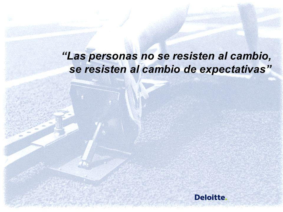 Las personas no se resisten al cambio,