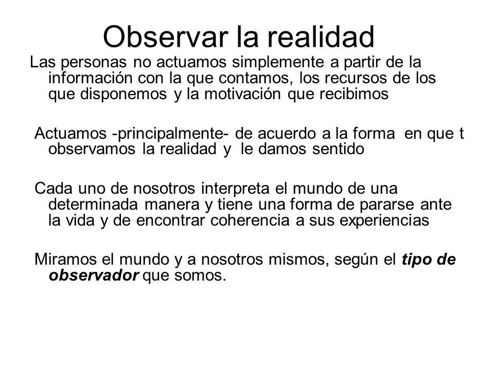 Observar la realidad
