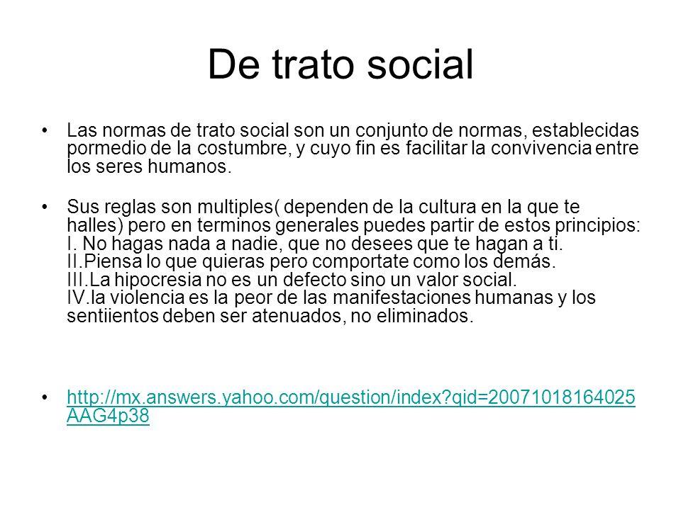 De trato social