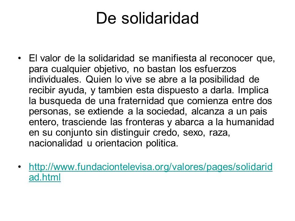 De solidaridad