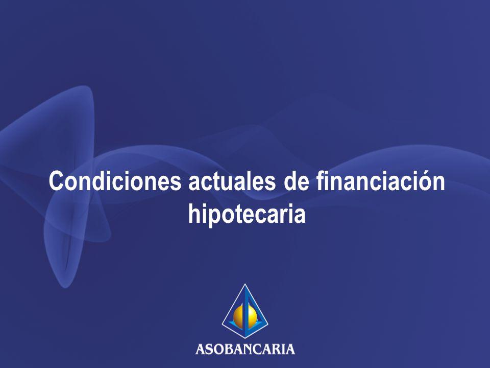 Condiciones actuales de financiación hipotecaria