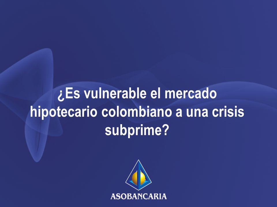 ¿Es vulnerable el mercado hipotecario colombiano a una crisis subprime