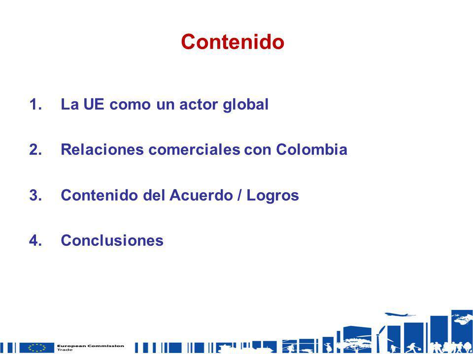 Contenido La UE como un actor global