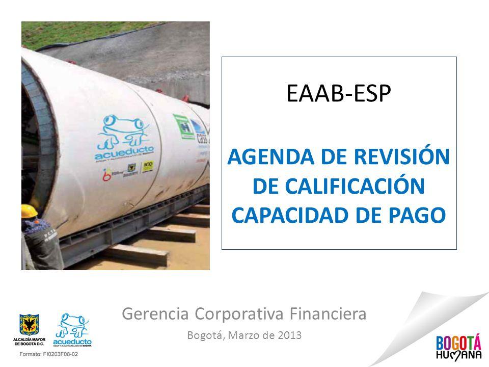 EAAB-ESP AGENDA DE REVISIÓN DE CALIFICACIÓN CAPACIDAD DE PAGO