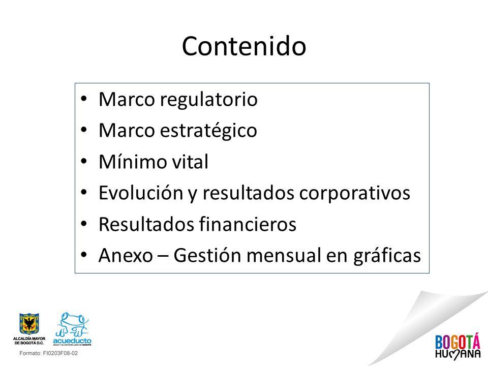 Contenido Marco regulatorio Marco estratégico Mínimo vital