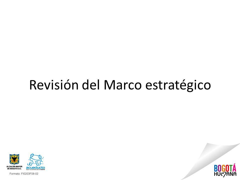 Revisión del Marco estratégico